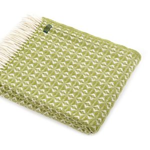 green-cobweave-wool-throw
