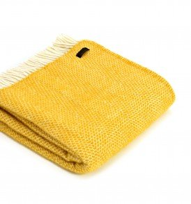 yellow-beehive-wool-throw